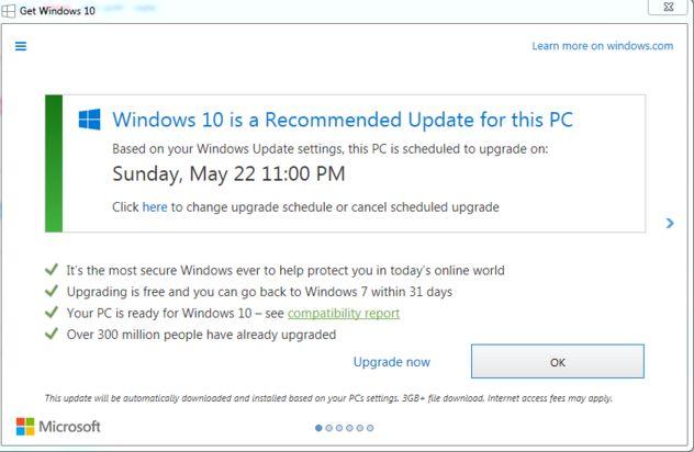 Dark Patterns – Beispiel von Windows 10