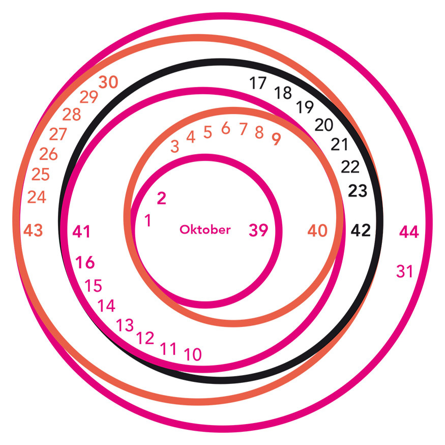 Monatsdesign Oktober