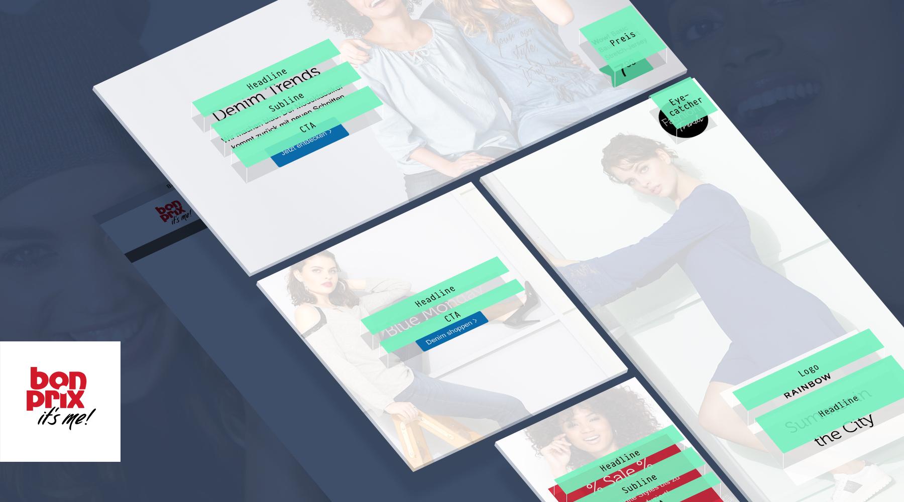 H2D2 - E-Commerce - bonprix Design-System für Teaser