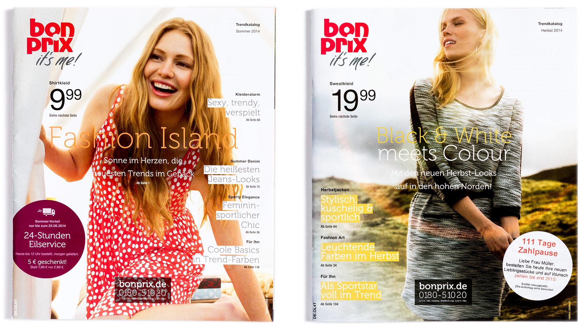 H2D2 Katalogdesign bonprix Kampagnenseite