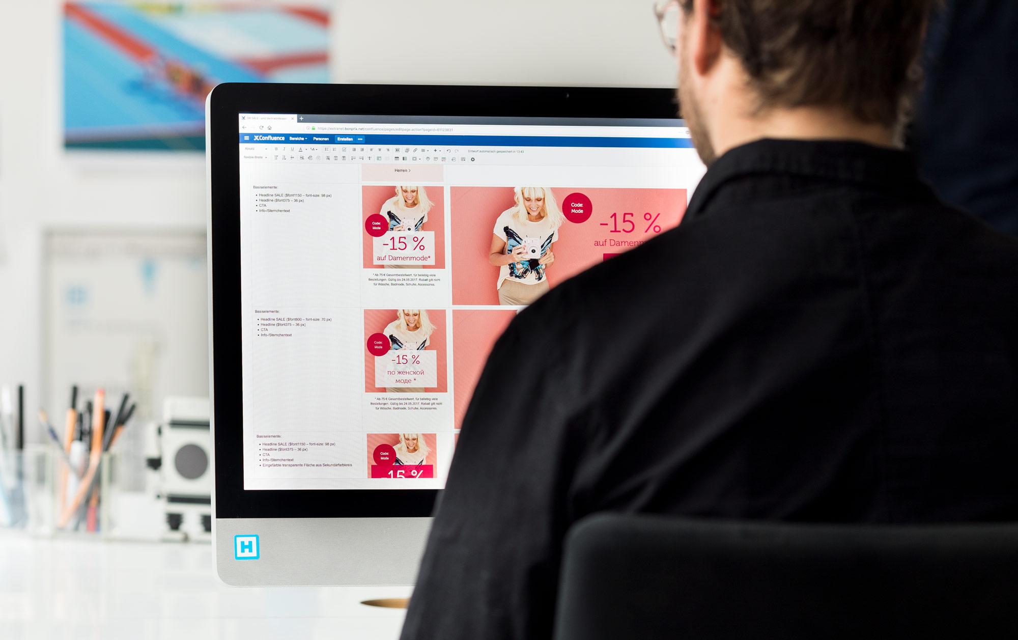 bonprix Teaser Designsystem –Dokumentation in Confluence