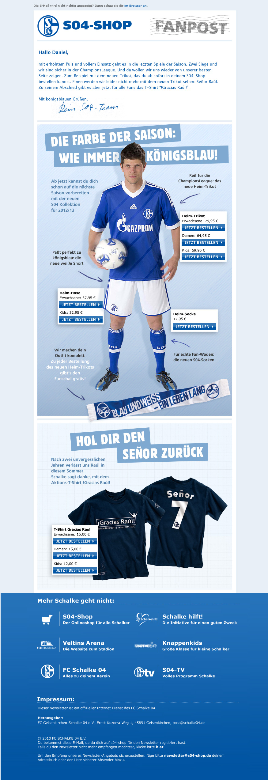 Schalke04 Newsletter vom April 2012
