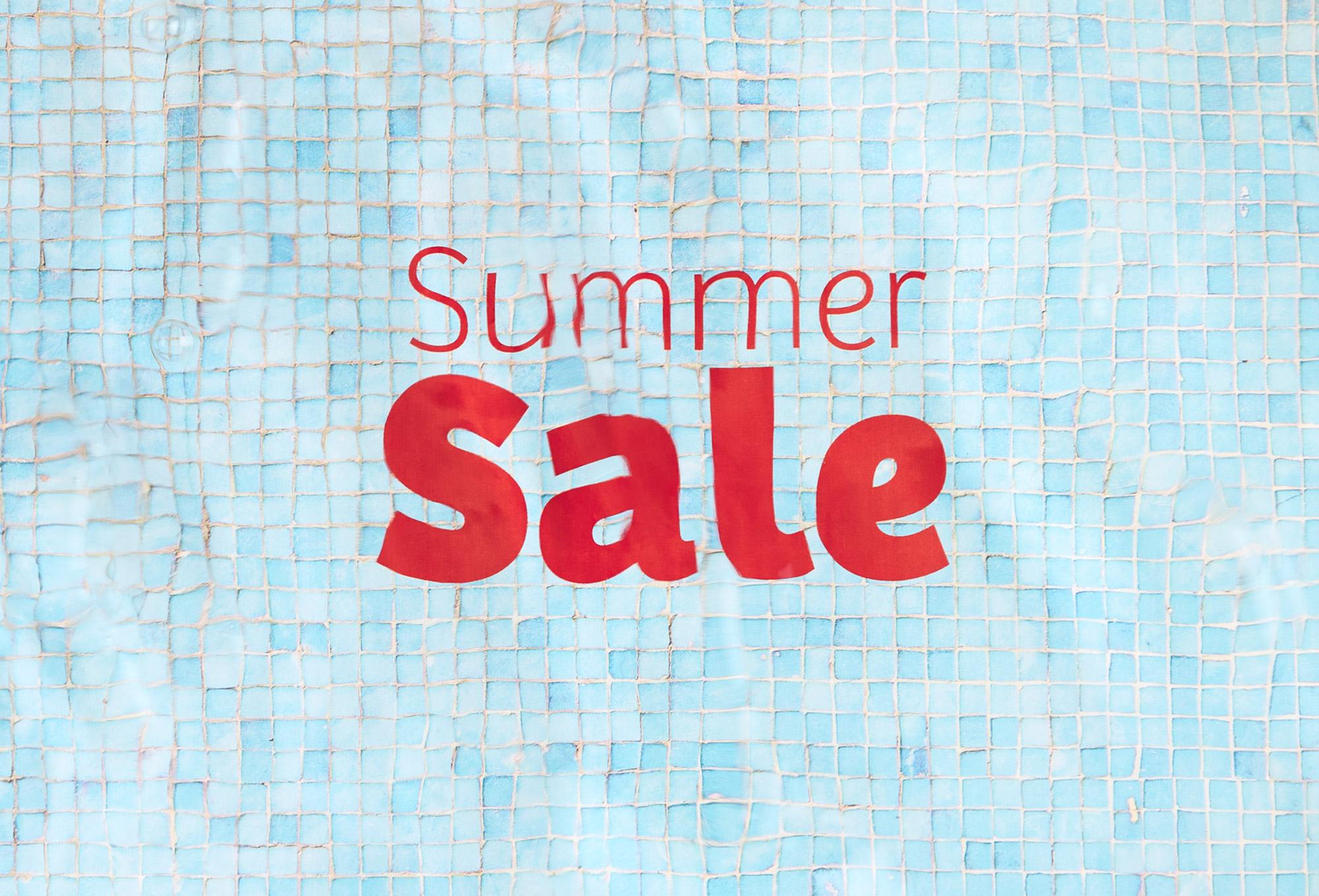 Das finale Ergebnis: das schwimmende Summer Sale-Logo