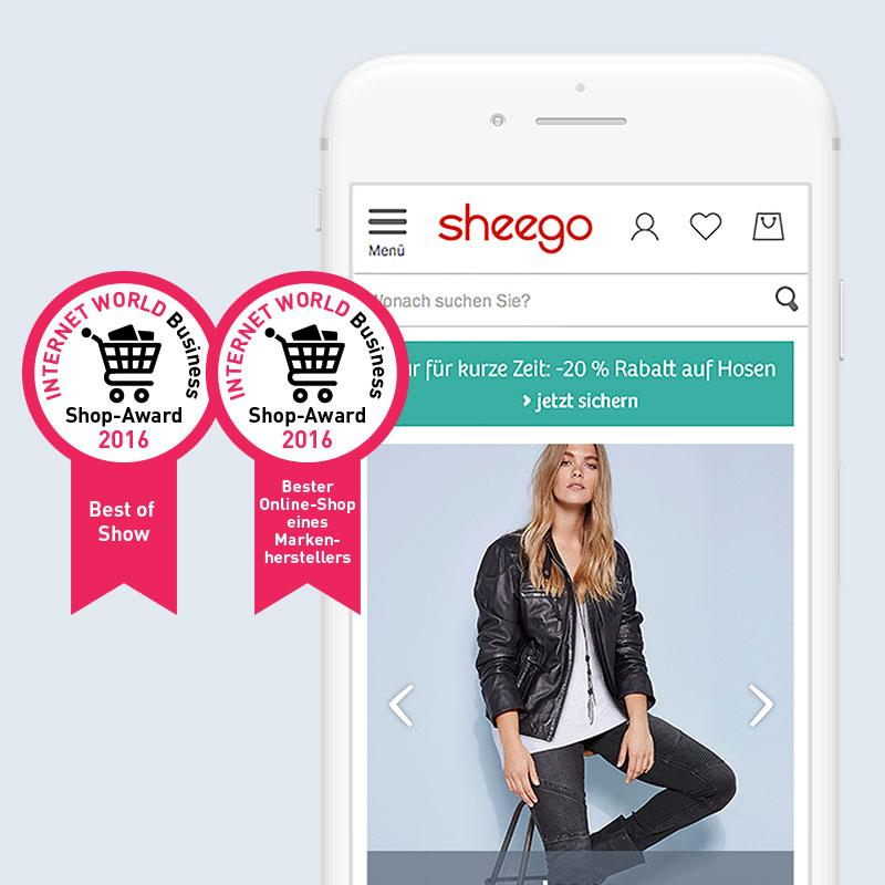 Wöchentliche Grafik- und Textproduktion für sheego-Shop | H2D2 GmbH