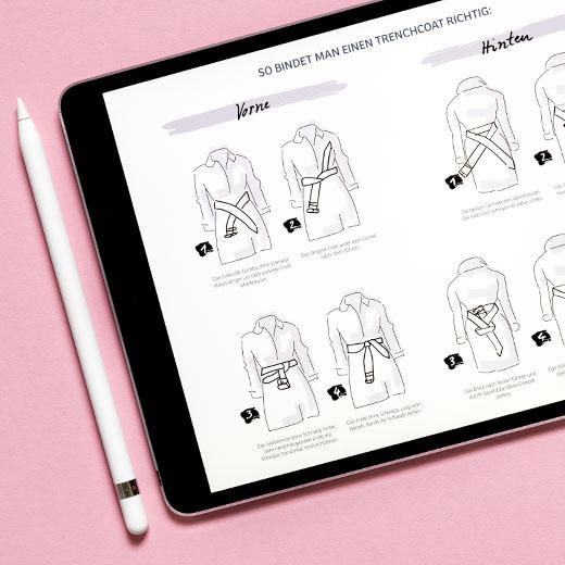 sheego Layout und Illustration für Online-Magazin – E-Commerce – H2D2