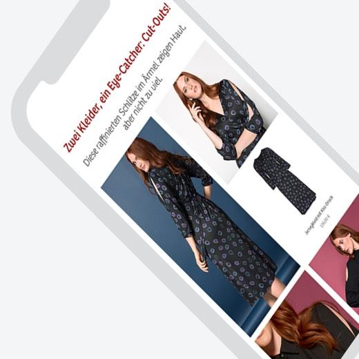 Design und Contententwicklung für Mode-Specials von sheego | H2D2