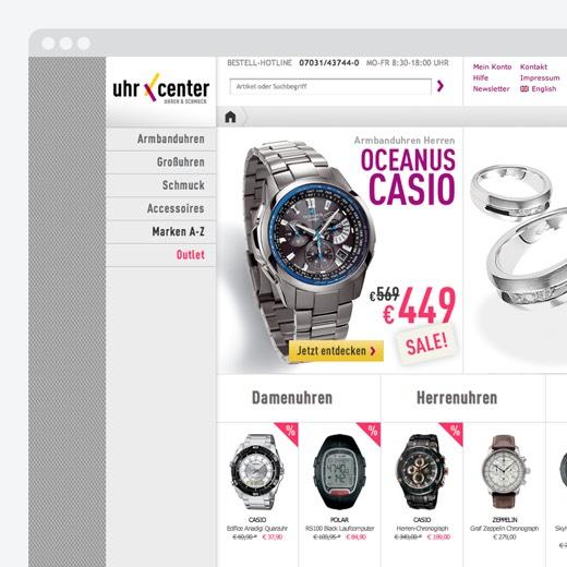 Relaunch von Marke und E-Commerce-Shop für uhrcenter.de | H2D2