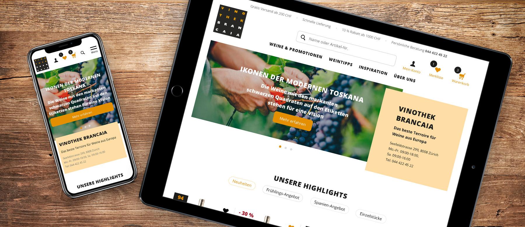 Weinshop Relaunch - das neue Design