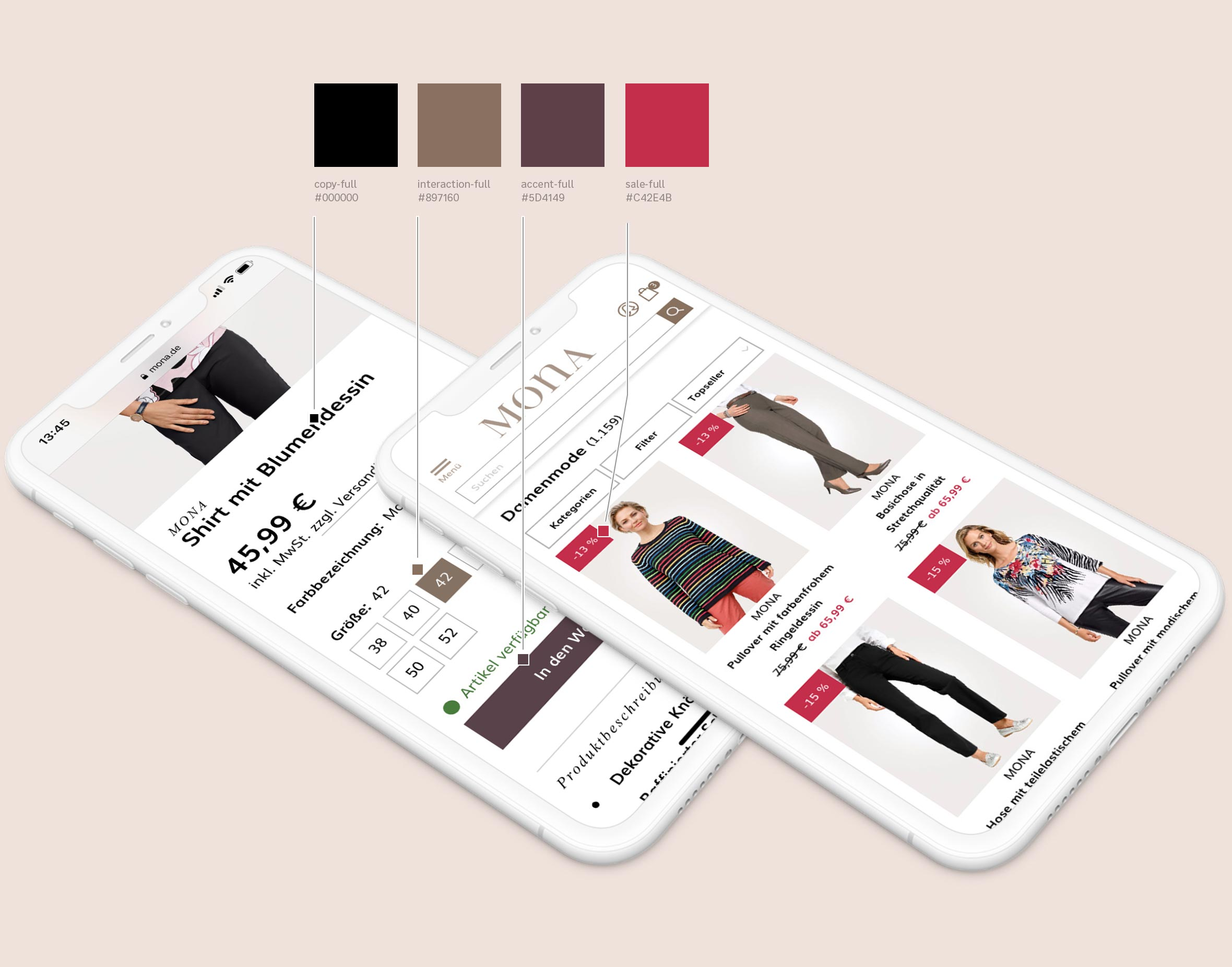 MONA Designsystem: das Farbsystem