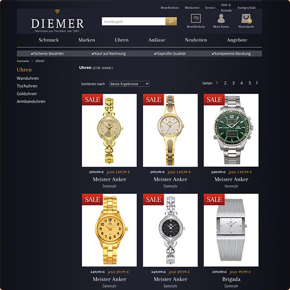 DIEMER Produktseite vorher