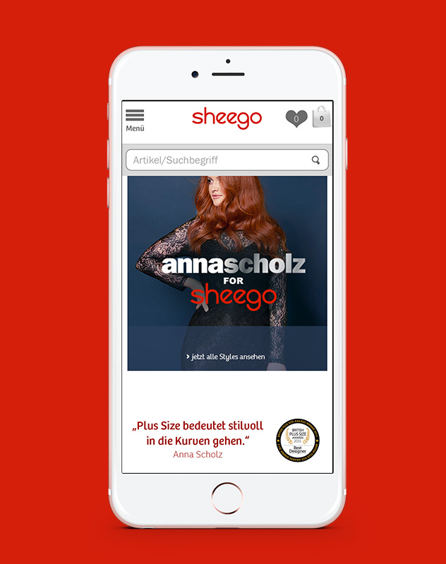 sheego Anna Scholz Webspecial